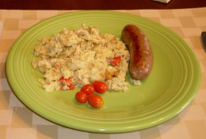 Maple Leaf Smoked Gouda Scramble