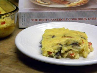 Cheesey Polenta-Veggie Bake